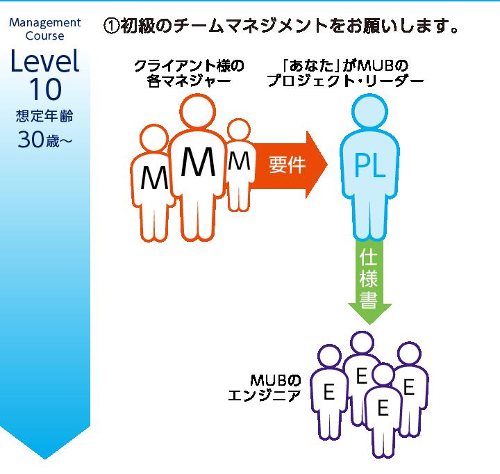 Level.10/想定年齢:30歳〜/予想年俸400万円/スペシャリストコース/想定年齢:30歳〜/予想年俸400万円