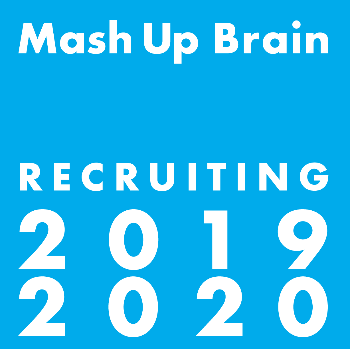 [バッジ]recruiting-mash up brain/ロゴマーク
