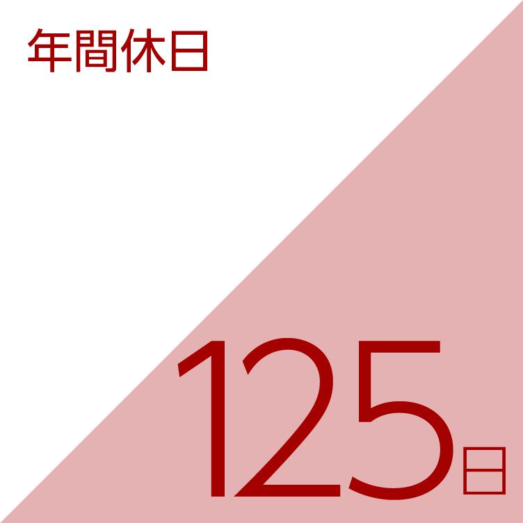 年間休日/125日